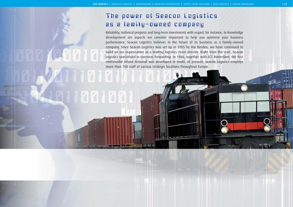 Seacon Logistics believes in the future of its business as a family-owned company.