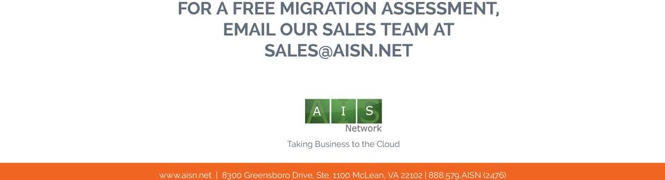 NET Taking Business to the Cloud www.aisn.