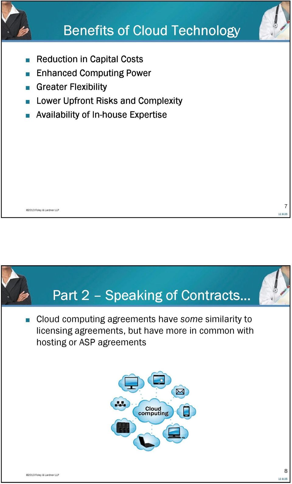 Expertise 7 Part 2 Speaking of Contracts Cloud computing agreements have some
