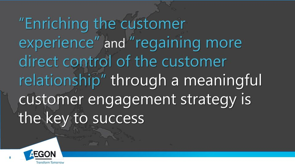 customer relationship through a meaningful