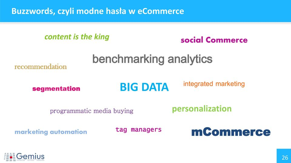 segmentation BIG DATA integrated marketing programmatic media