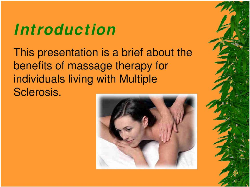 of massage therapy for