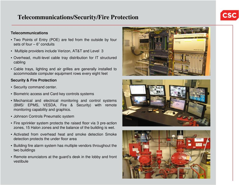 & Fire Protection Security command center.