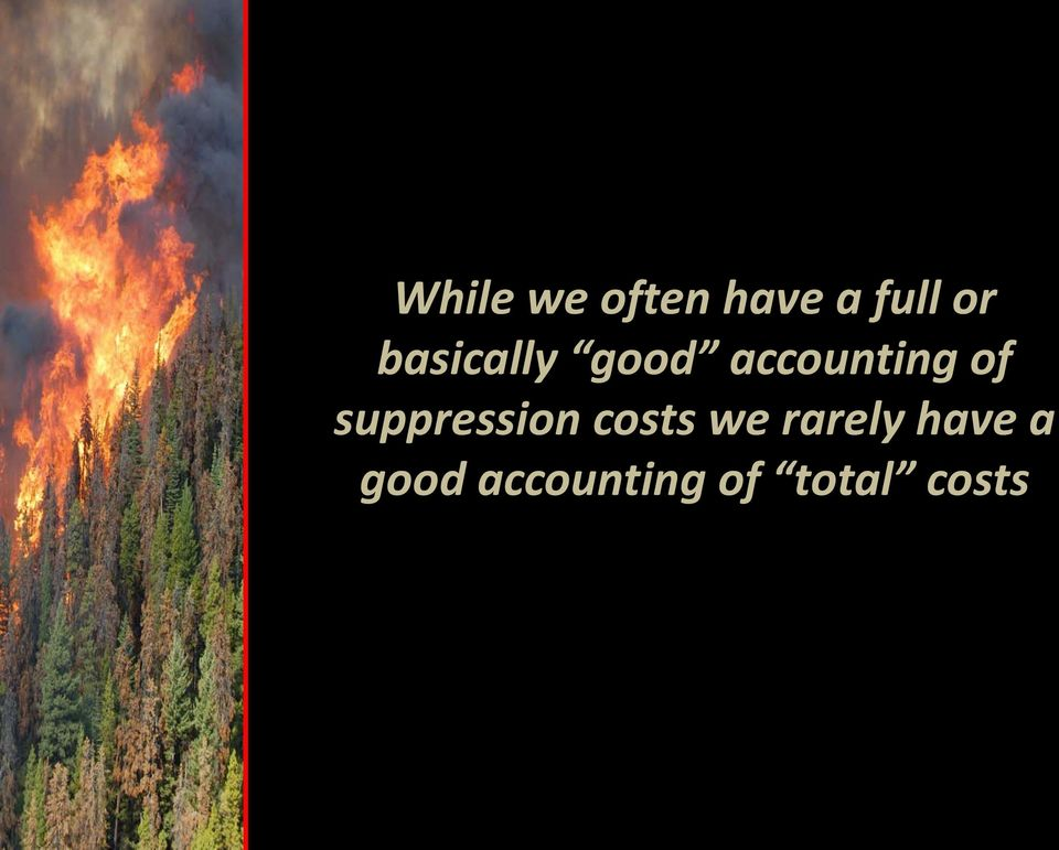 suppression costs we rarely
