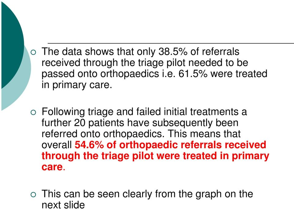 5% were treated in primary care.