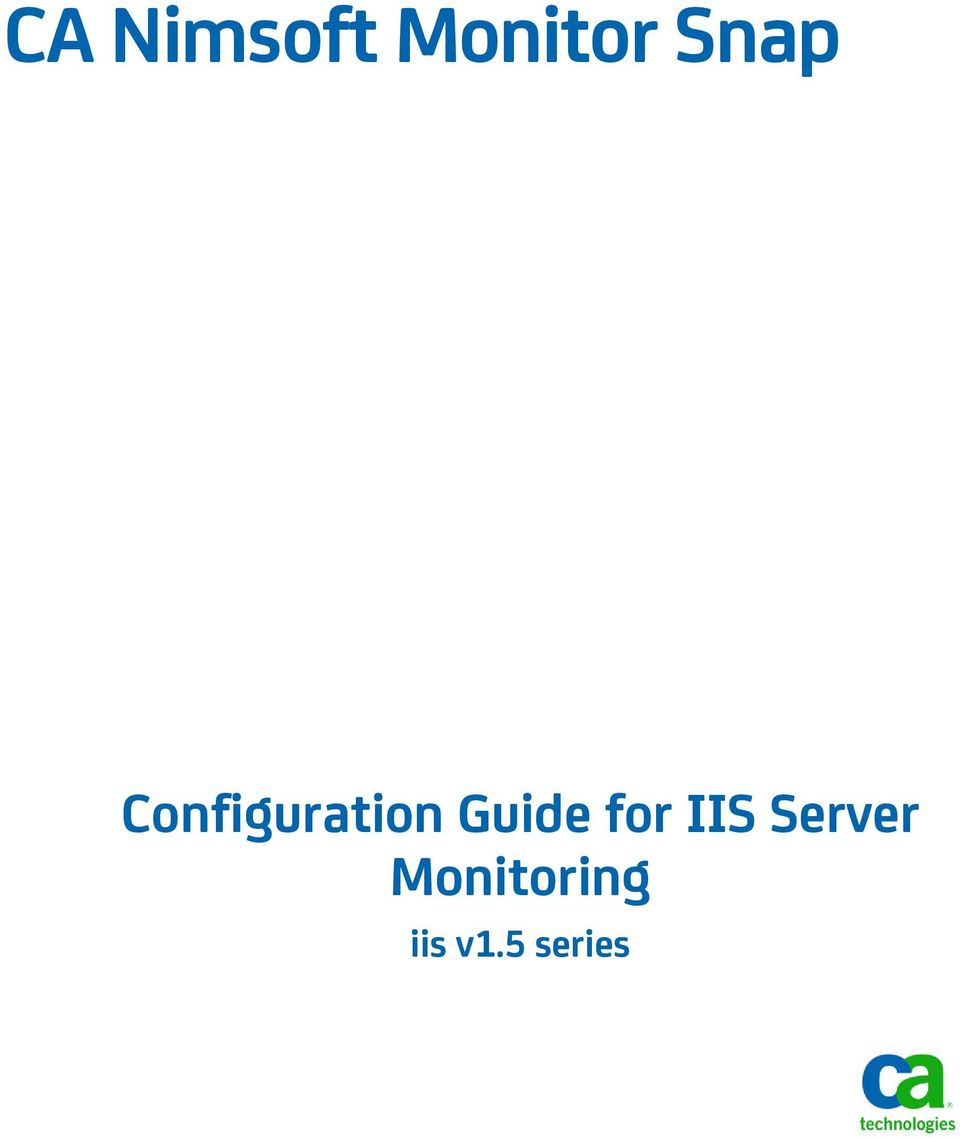 Guide for IIS Server