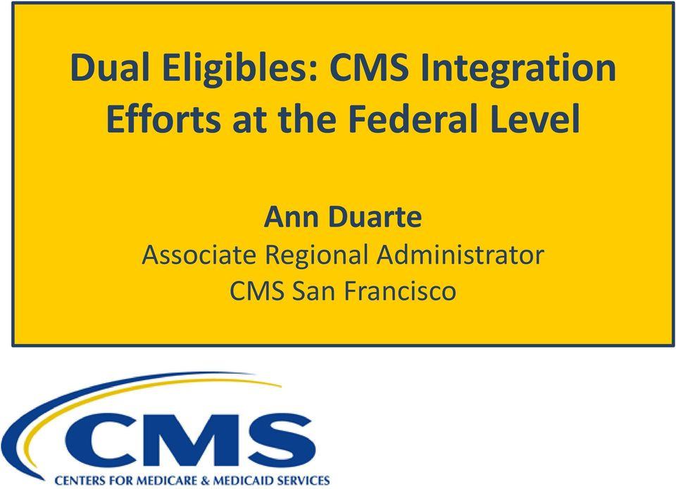 Federal Level Ann Duarte
