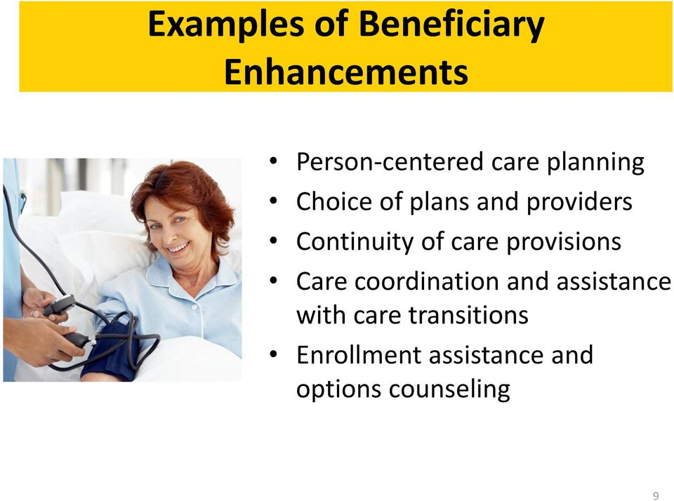of care provisions Care coordination and assistance with