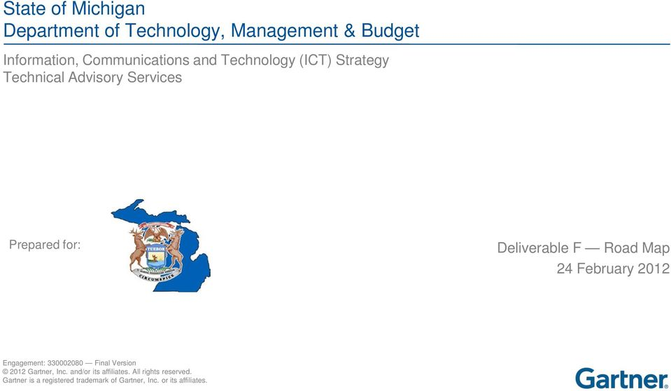 and Technology (ICT) Strategy Technical Advisory