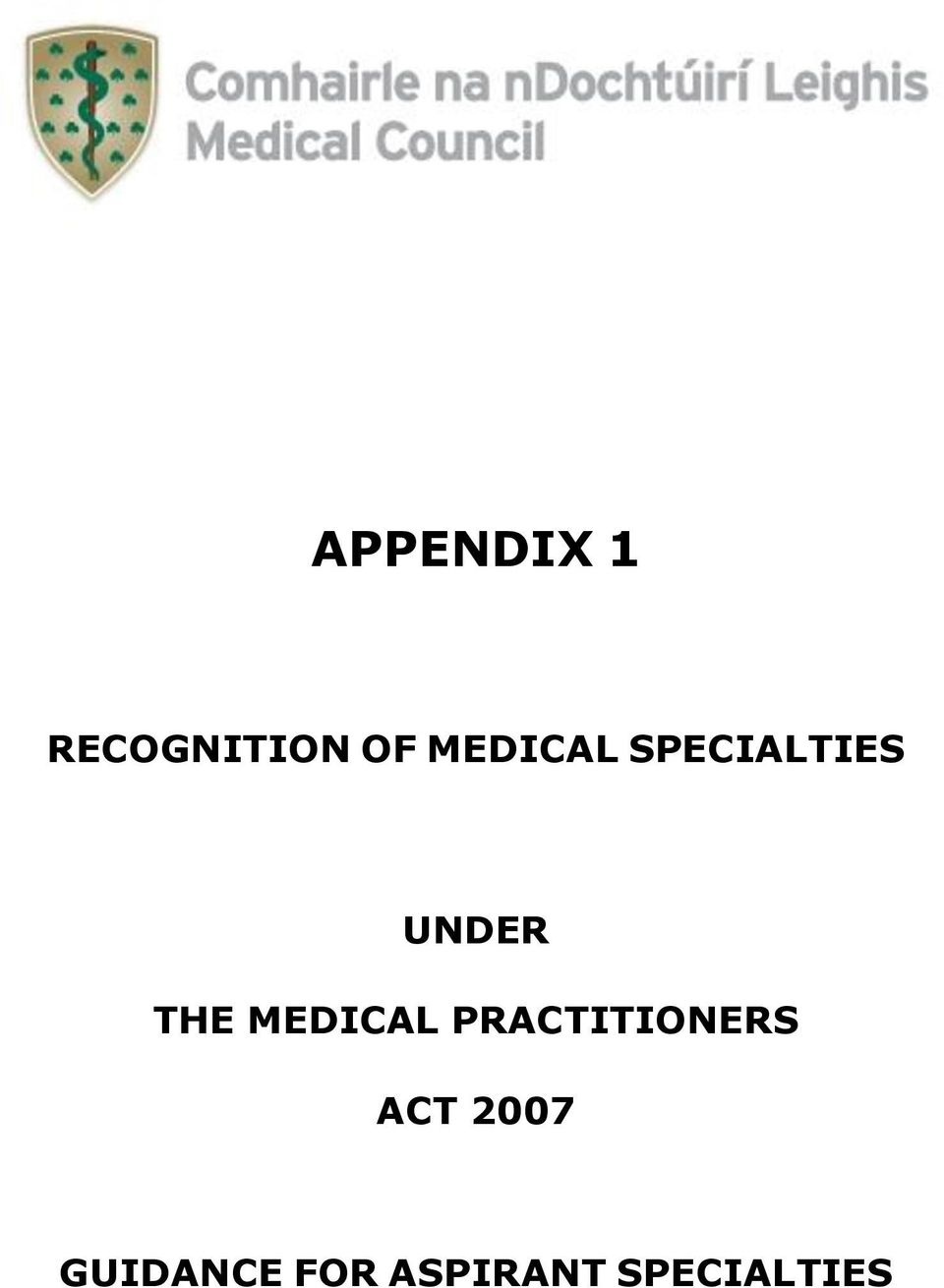 MEDICAL PRACTITIONERS ACT