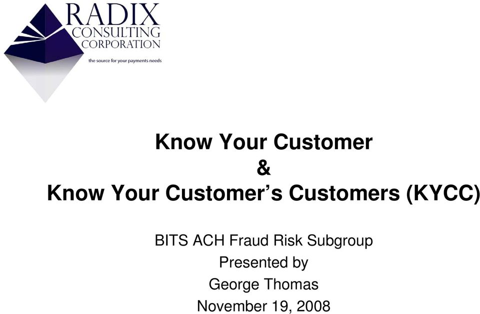 ACH Fraud Risk Subgroup