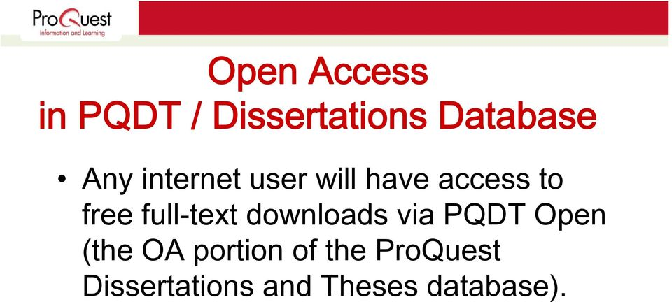 full-text downloads via PQDT Open (the OA