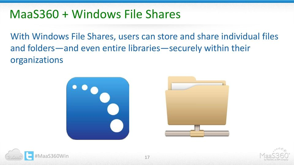individual files and folders and even