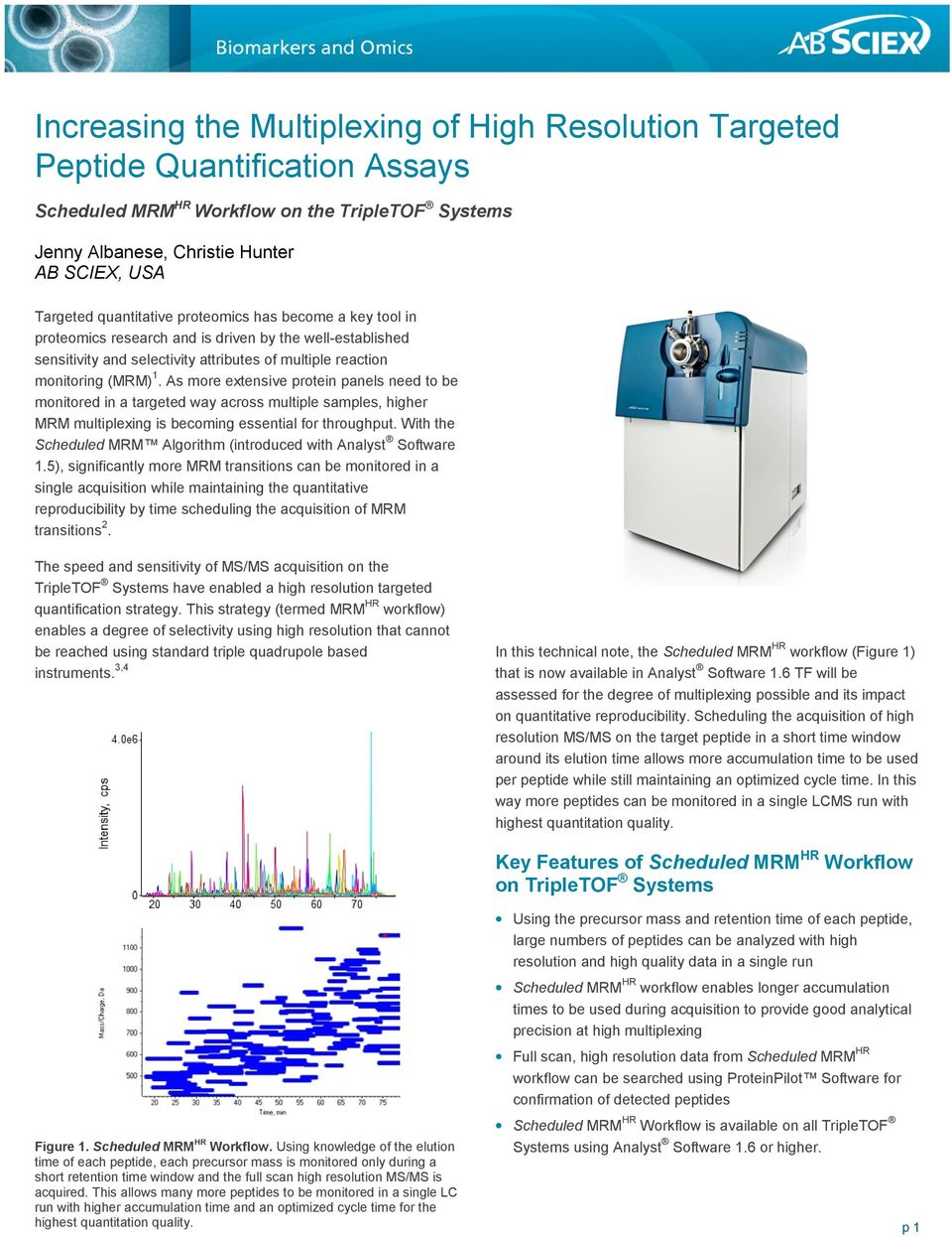 As more extensive protein panels need to be monitored in a targeted way across multiple samples, higher MRM multiplexing is becoming essential for throughput.