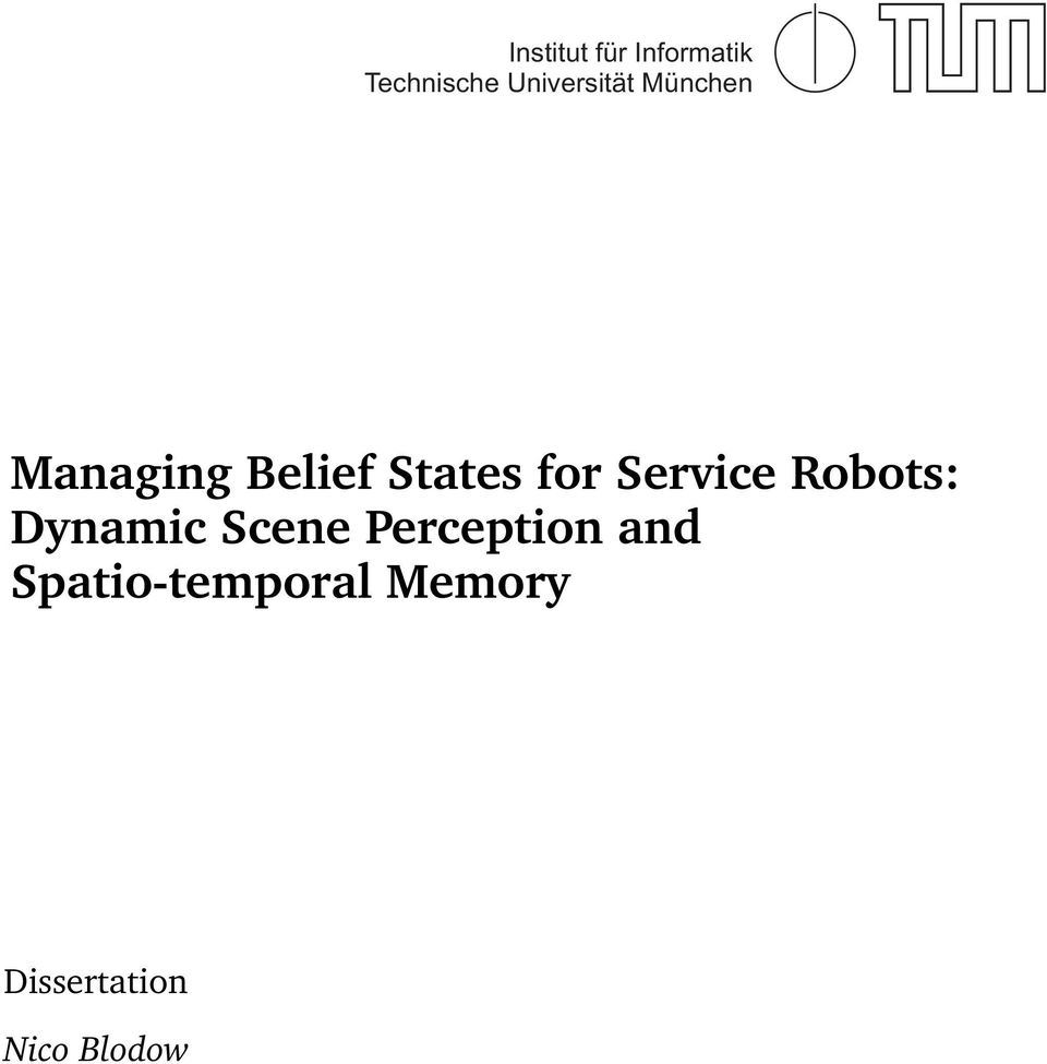 for Service Robots: Dynamic Scene