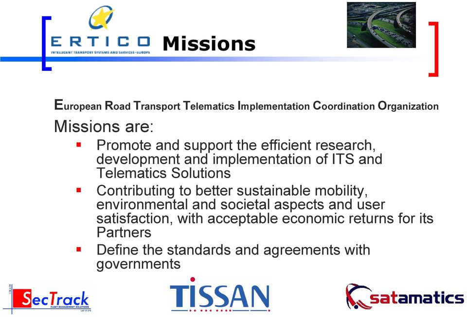 Solutions Contributing to better sustainable mobility, environmental and societal aspects and user