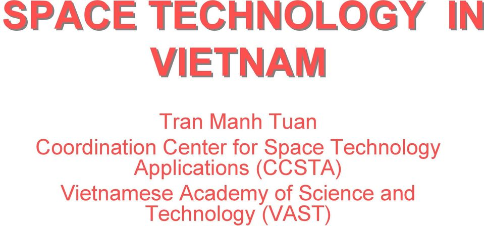 Technology Applications (CCSTA)