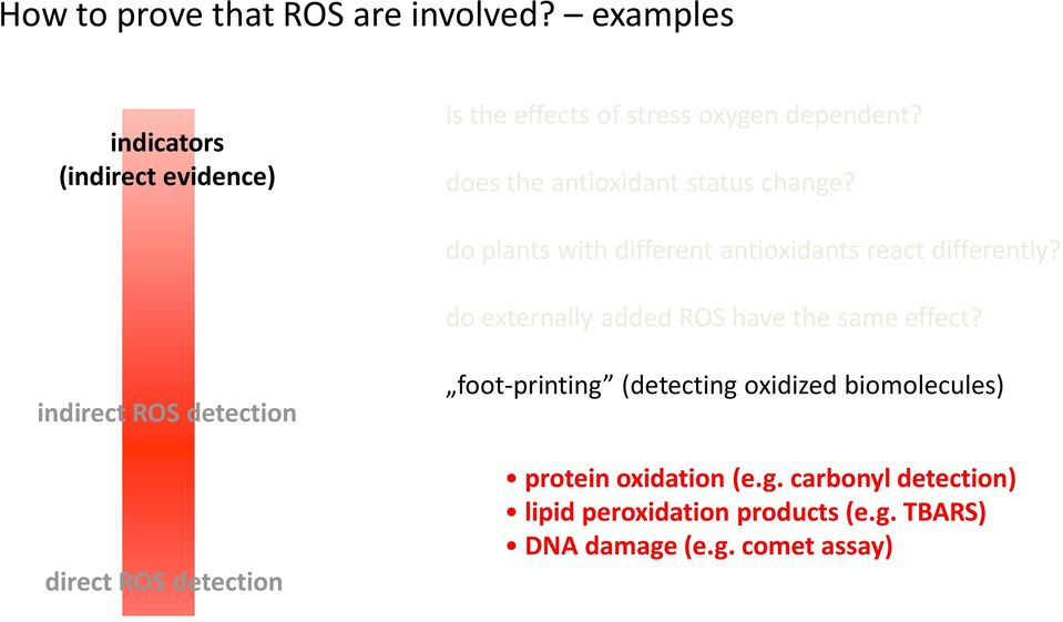 do externally added ROS have the same effect?