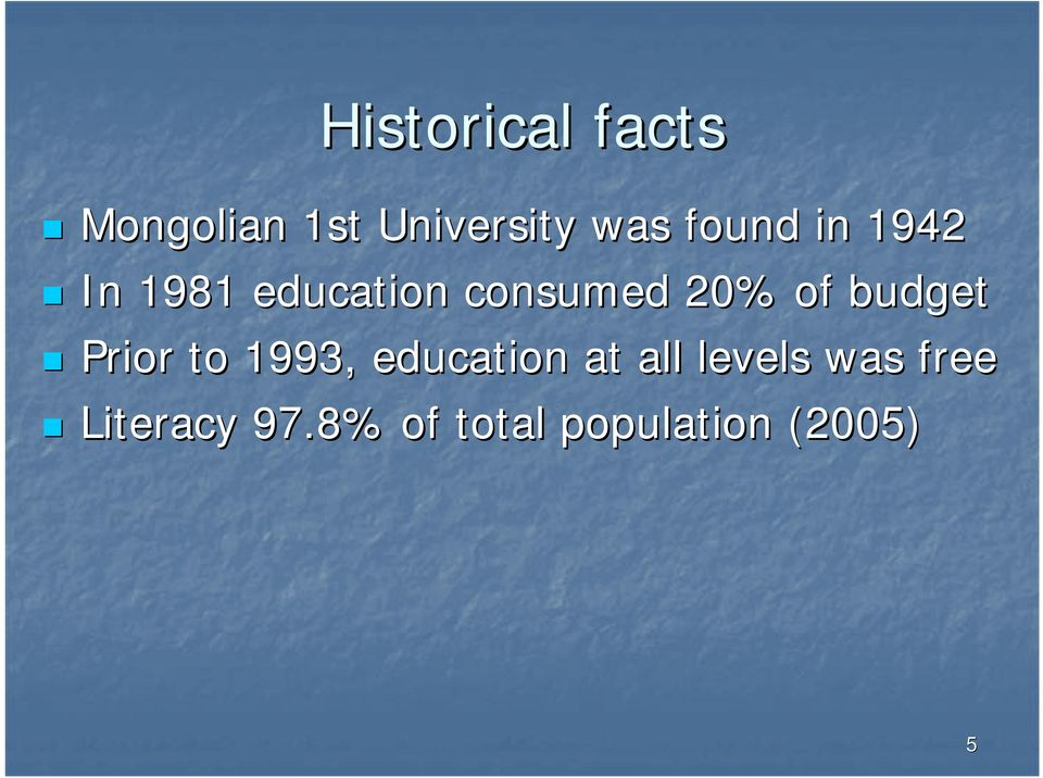 budget Prior to 1993, education at all levels
