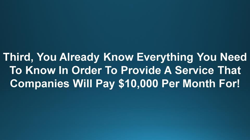 Order To Provide A Service That