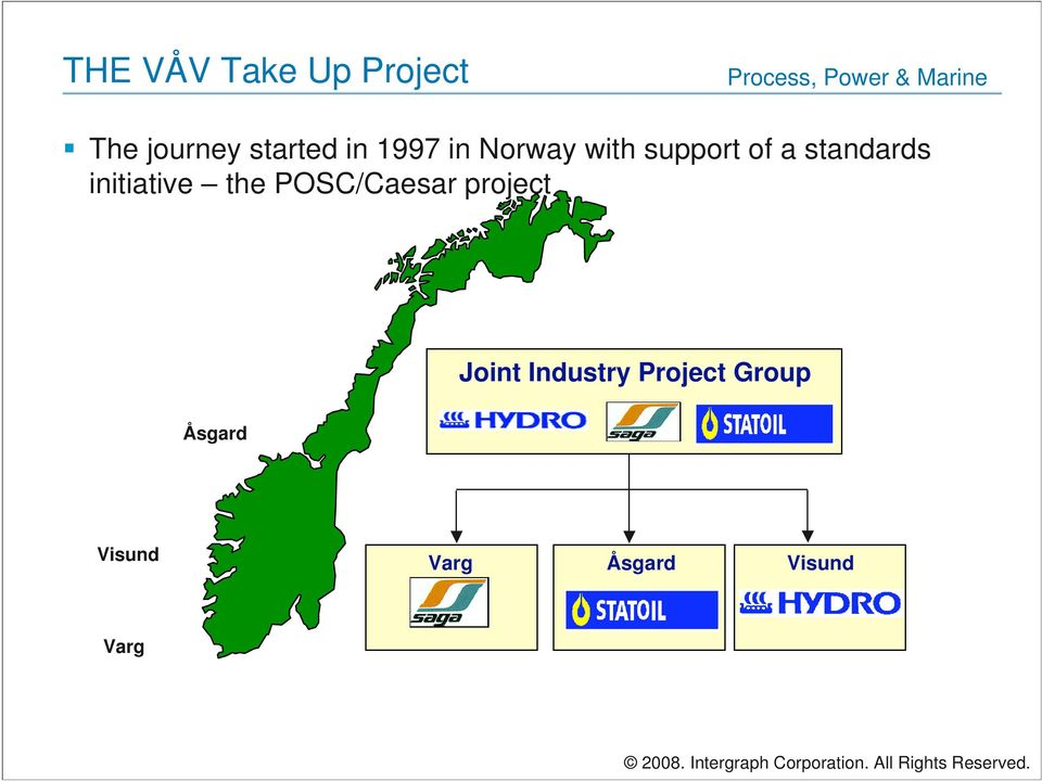 POSC/Caesar project Joint Industry Project Group Åsgard