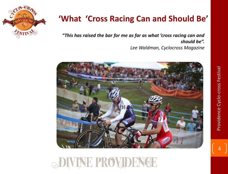 far as what cross racing can and