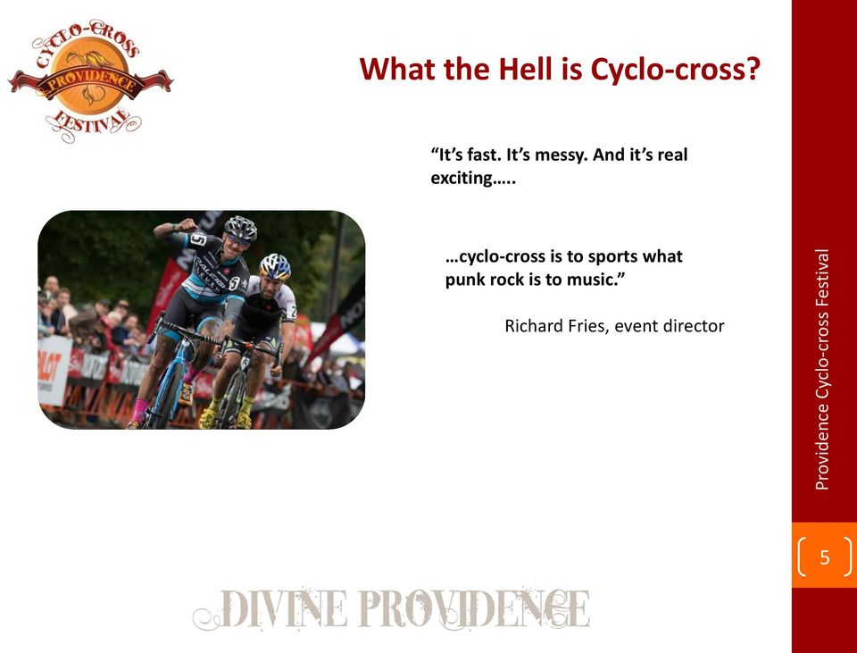. cyclo-cross is to sports what punk
