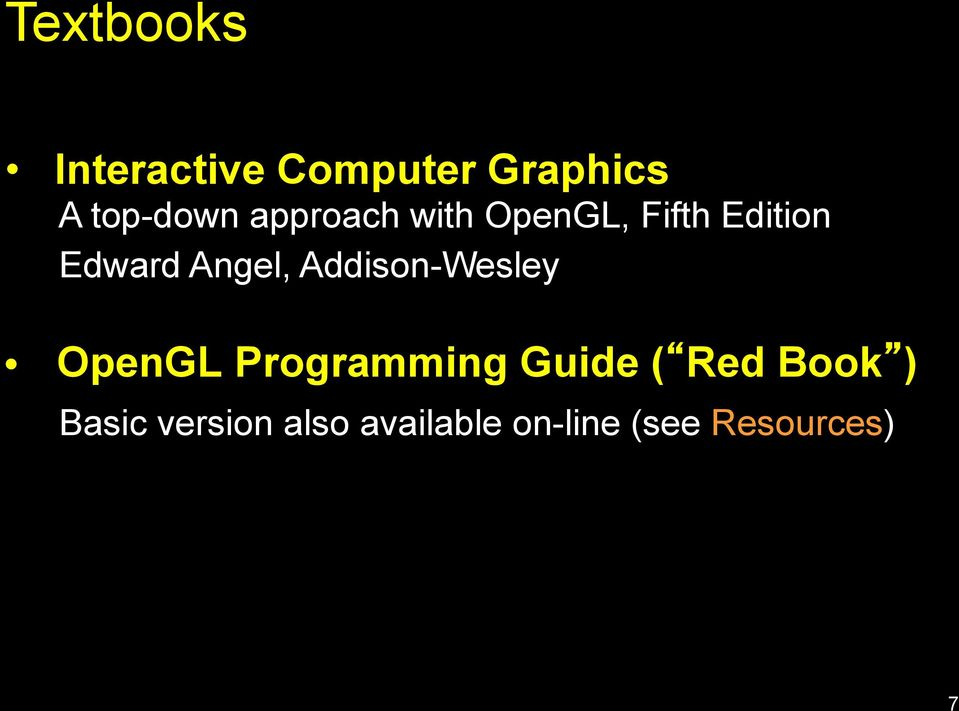 Addison-Wesley OpenGL Programming Guide ( Red Book