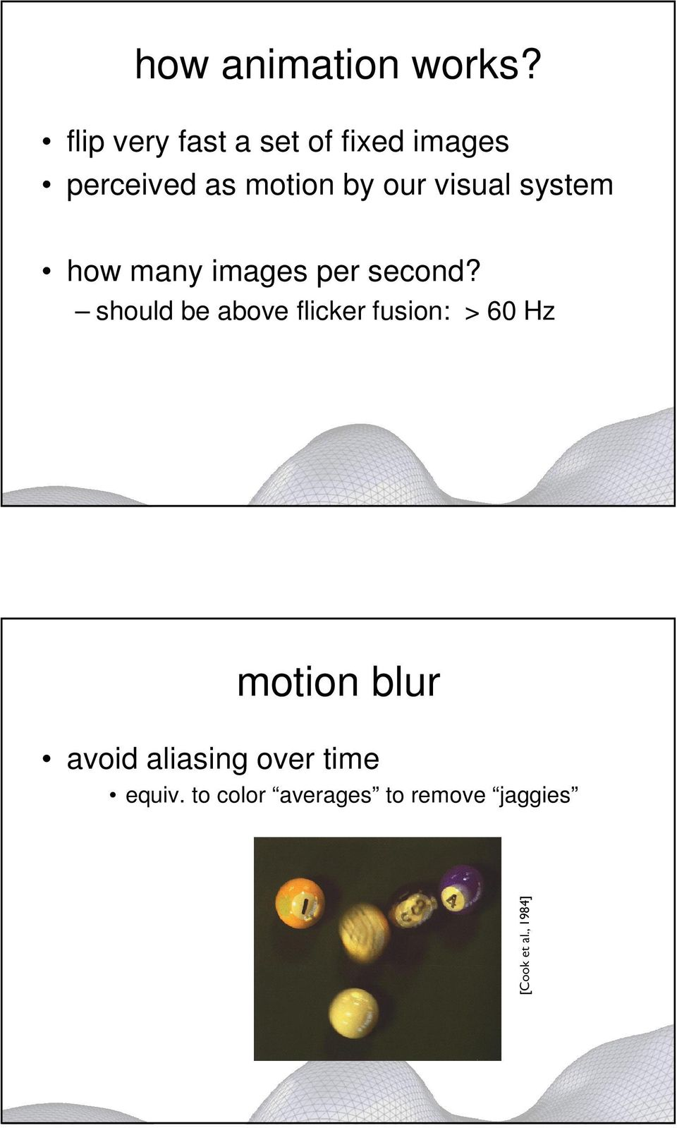 visual system how many images per second?