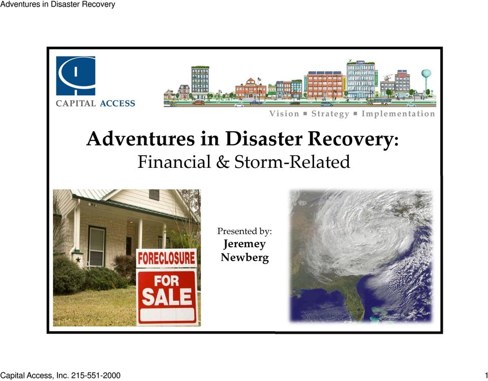 Financial & Storm Related Presented
