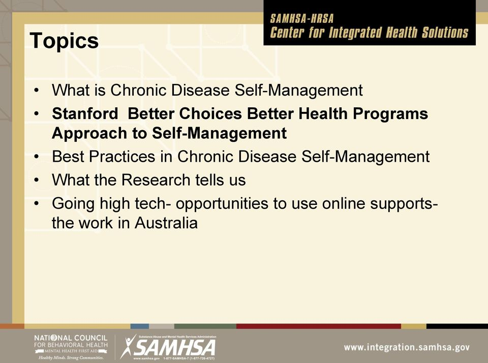 Practices in Chronic Disease Self-Management What the Research tells