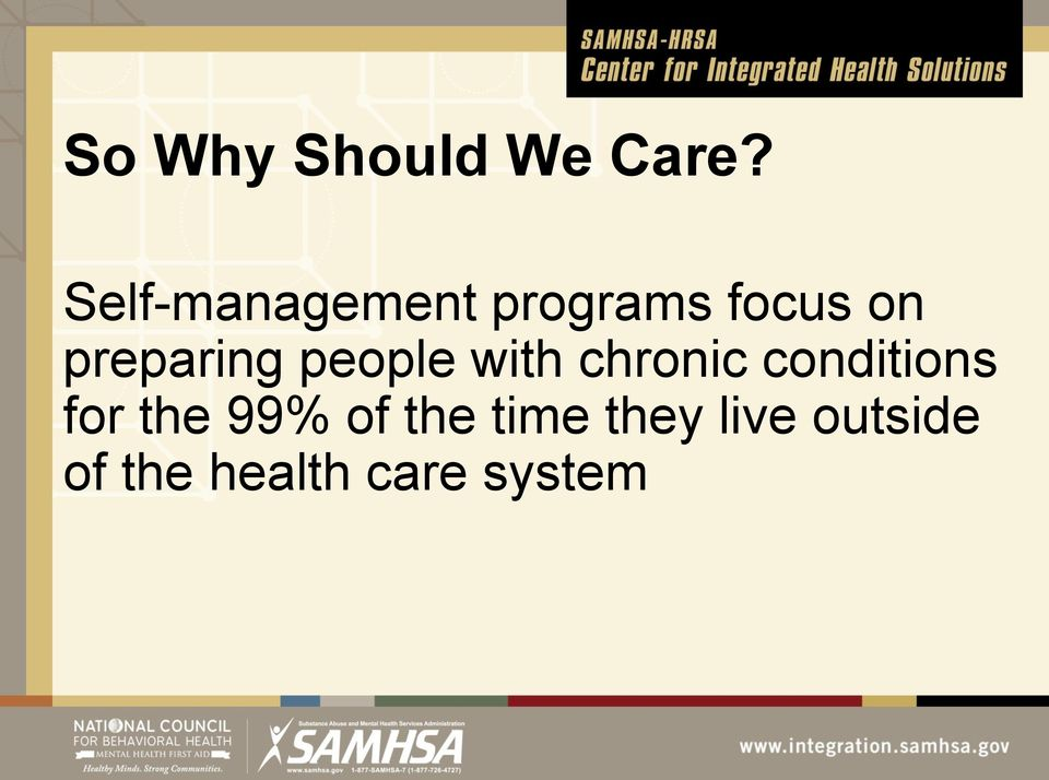 preparing people with chronic conditions