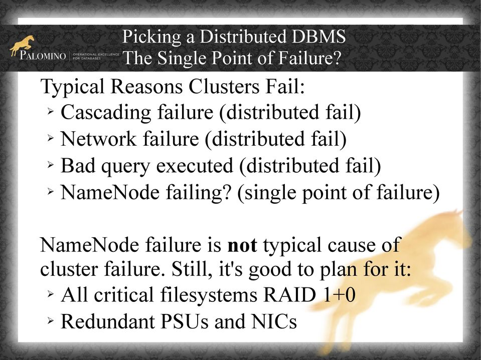 fail) Bad query executed (distributed fail) NameNode failing?