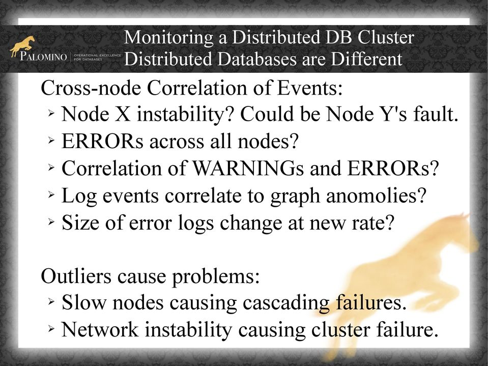Correlation of WARNINGs and ERRORs? Log events correlate to graph anomolies?