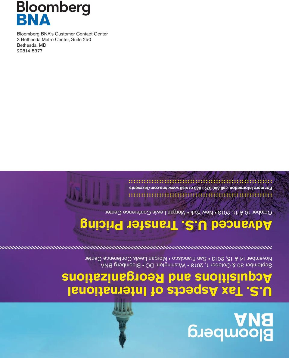 S. Tax Aspects of International Acquisitions and