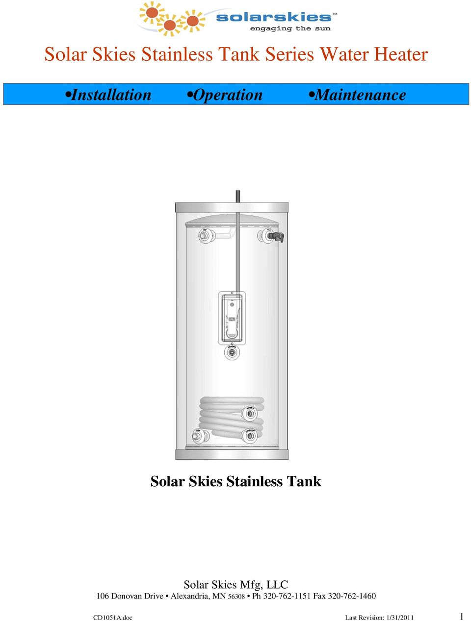 Maintenance Solar Skies Stainless