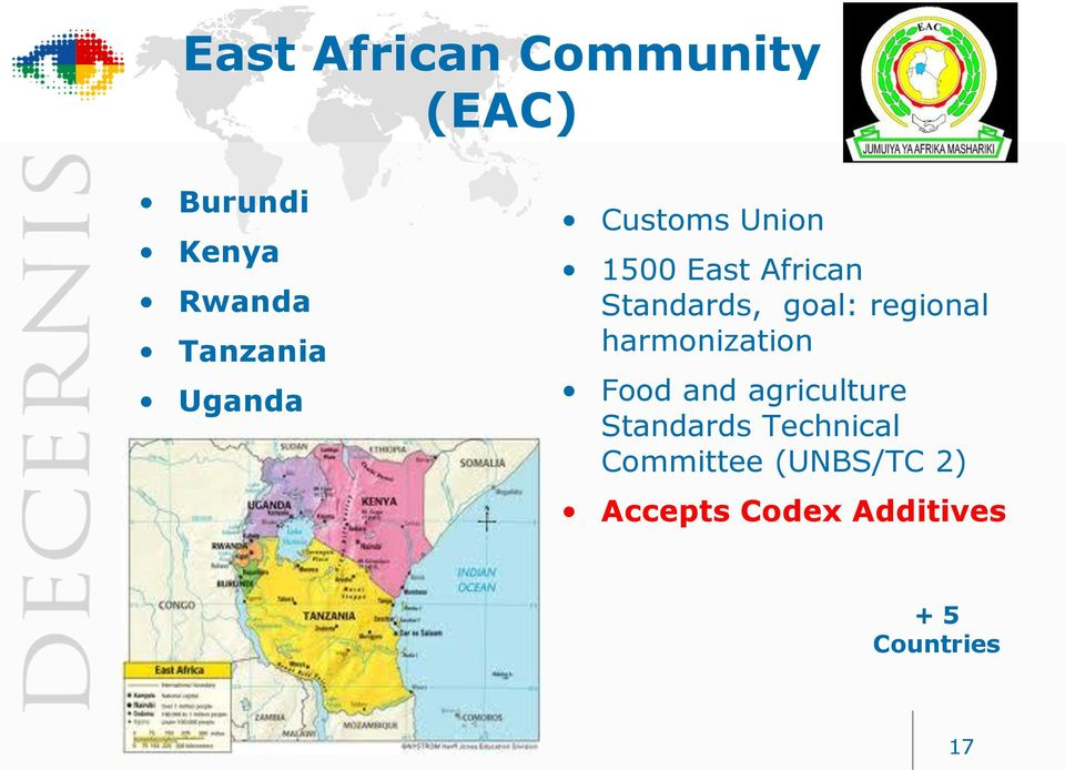 regional harmonization Food and agriculture Standards