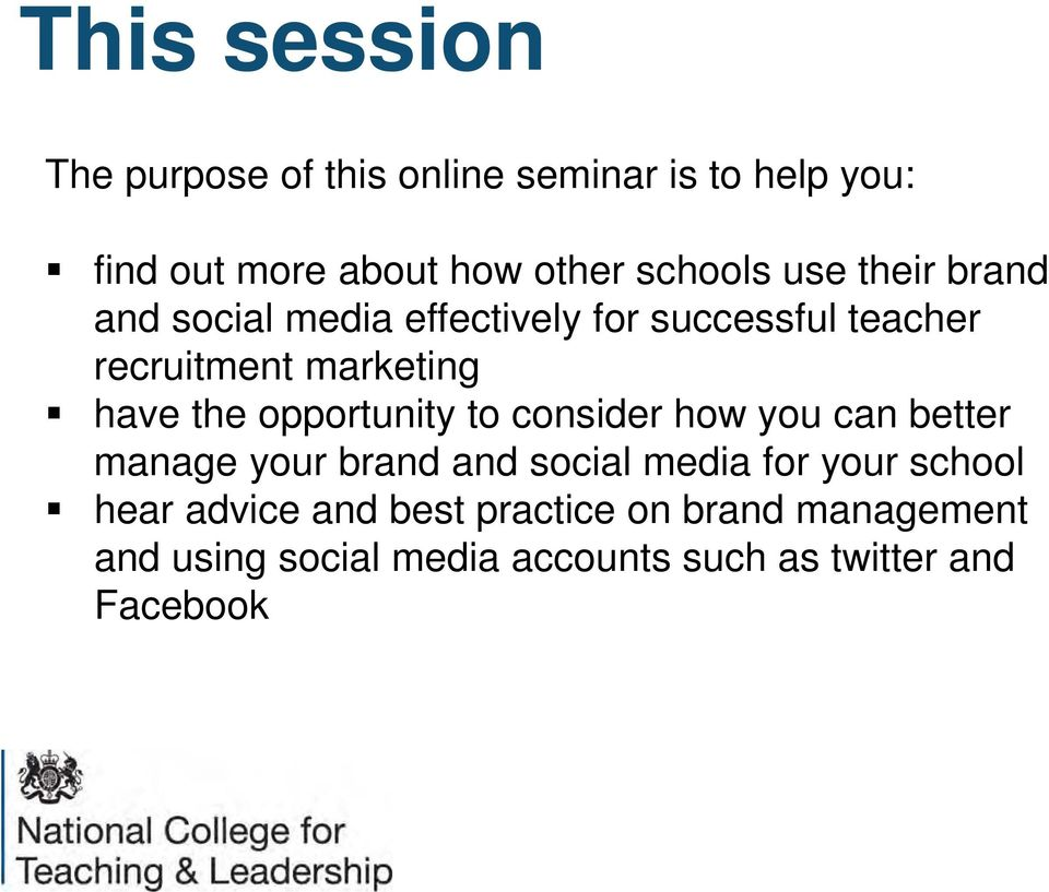 opportunity to consider how you can better manage your brand and social media for your school hear