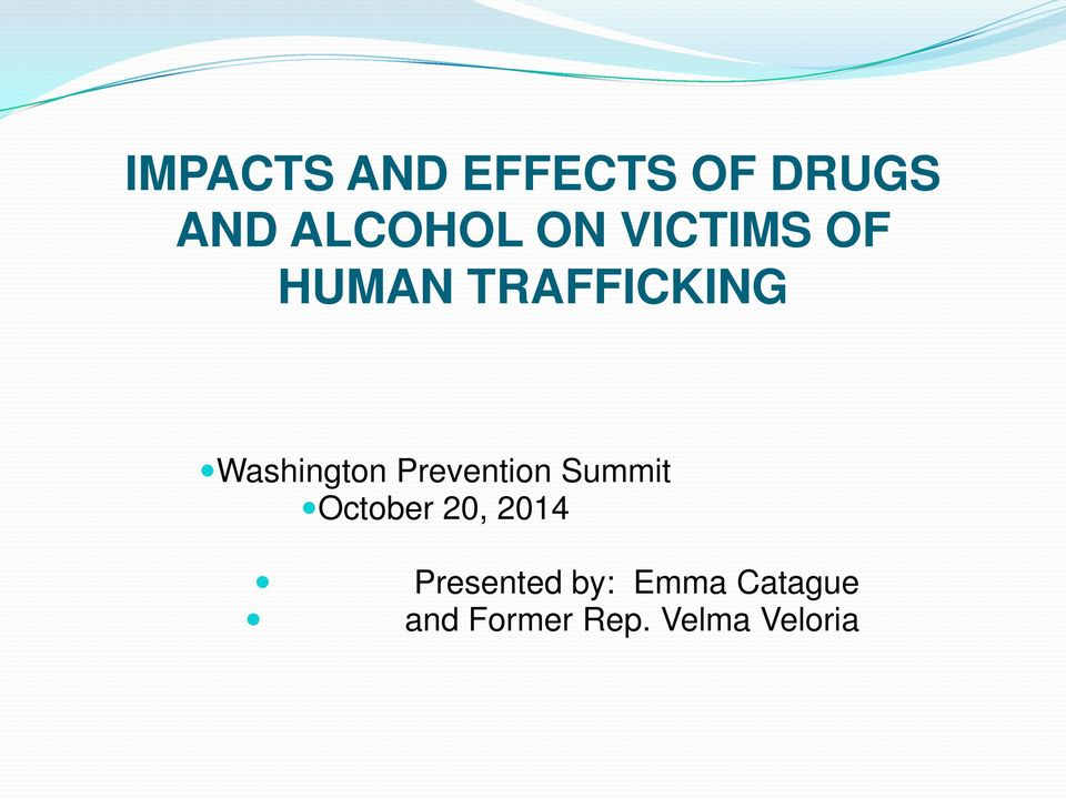 Prevention Summit October 20, 2014