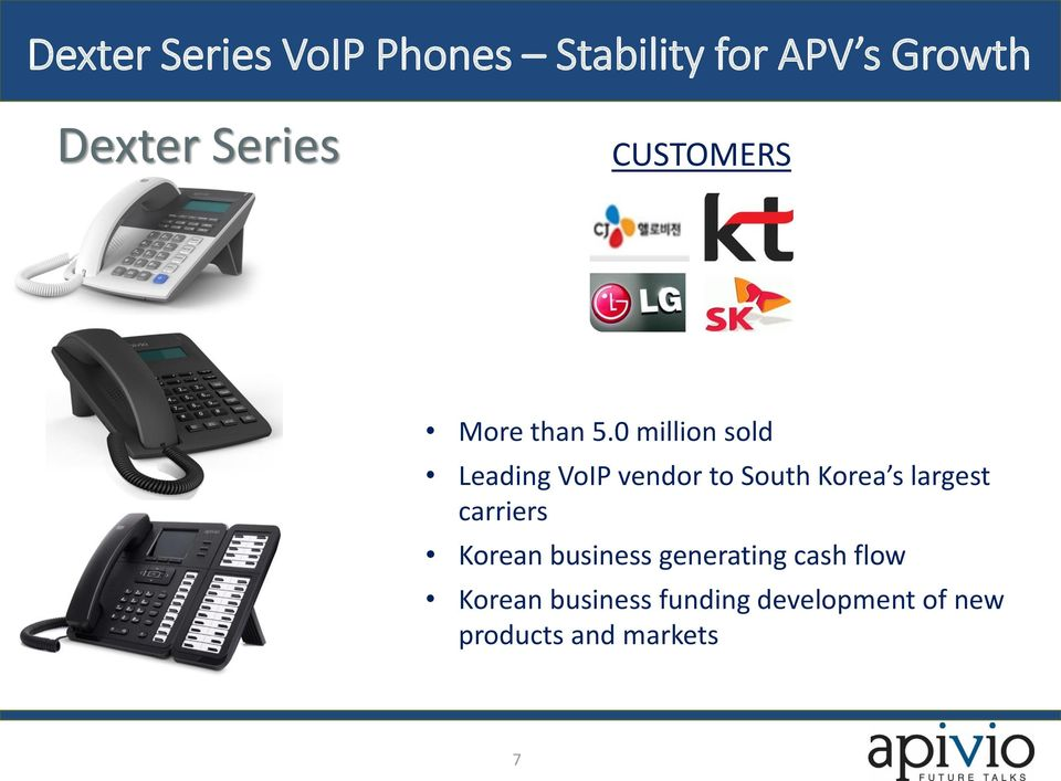 0 million sold Leading VoIP vendor to South Korea s largest