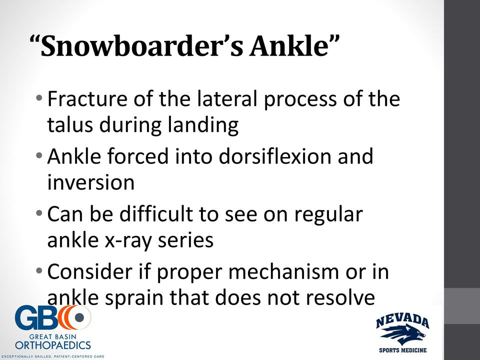 inversion Can be difficult to see on regular ankle x-ray