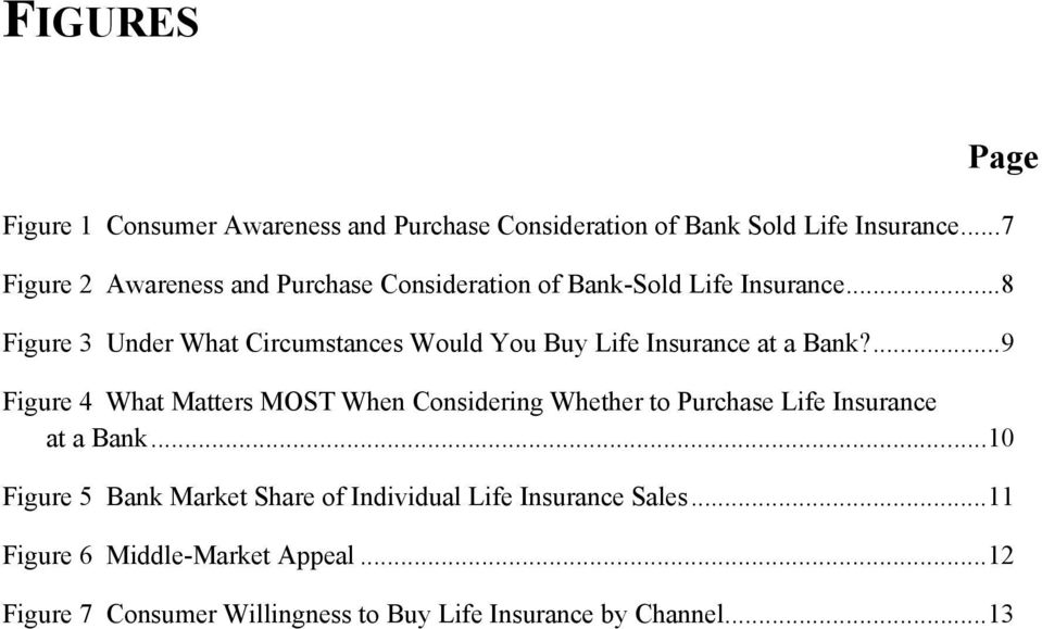 ..8 Figure 3 Under What Circumstances Would You Buy Life Insurance at a Bank?