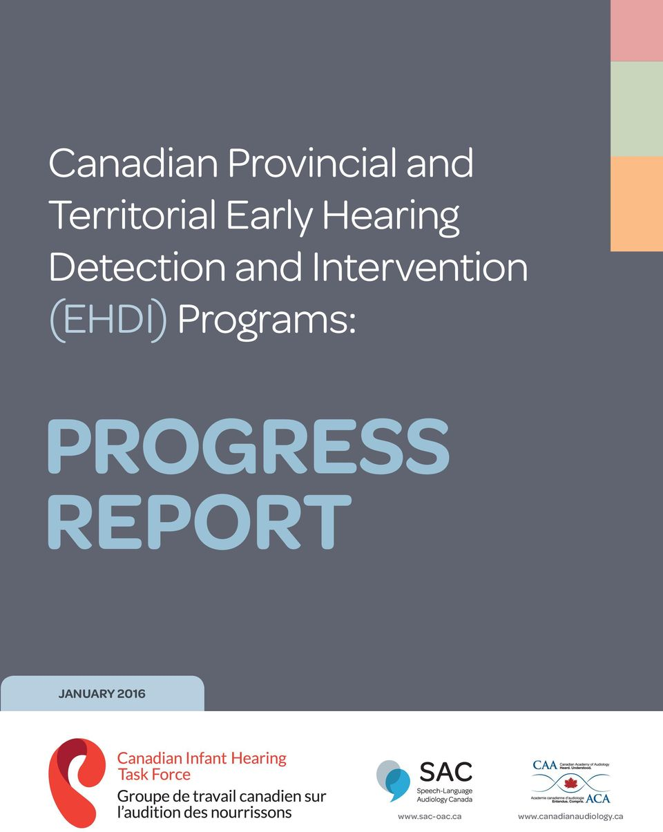 Intervention (EHDI) Programs: