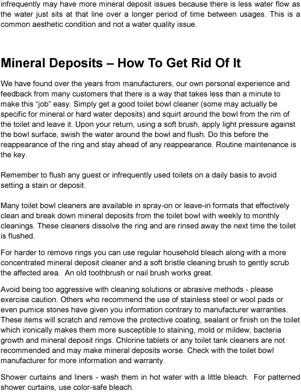 A Guide to Stains, Rings, Discoloration, Mineral Deposits: What They ...