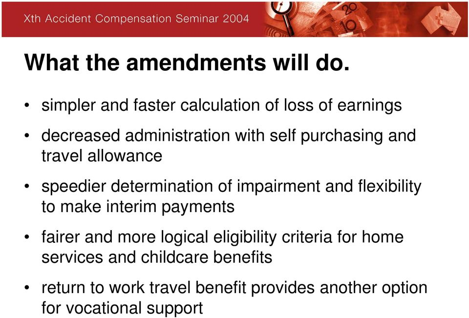 and travel allowance speedier determination of impairment and flexibility to make interim