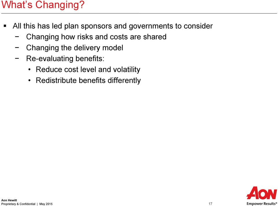 how risks and costs are shared Changing the delivery model