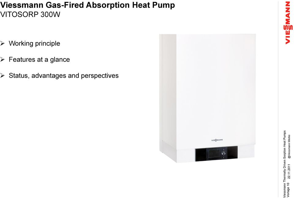 Heat Pump VITOSORP 300W Working