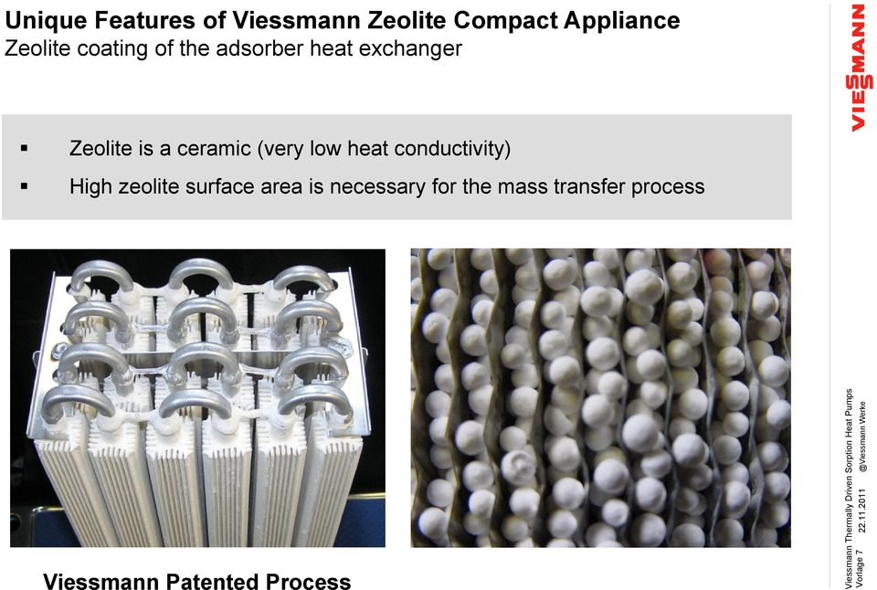 Zeolite coating of the adsorber heat exchanger Zeolite is a