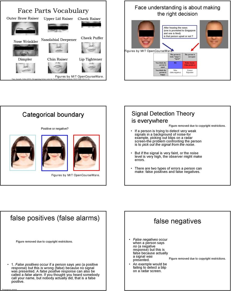 Recognizing Action units for Facial Expression Analysis. IEEE PAMI, 23,2,1-19. Figures by MIT OpenCourseWare.