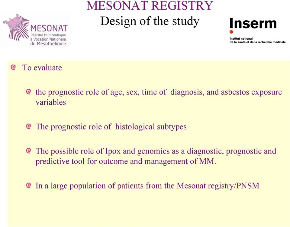 The possible role of Ipox and genomics as a diagnostic, prognostic and predictive tool for